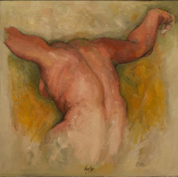 Figure oil/canvas 75 x 75 cm 1995